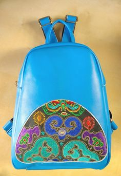 A personal favorite from my Etsy shop https://www.etsy.com/sg-en/listing/213481493/on-sale-blue-hmong-boho-leather