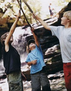 Hiking with my boys- 10 percent of the time hiking and 90 percent of time picking up various sticks and twigs.