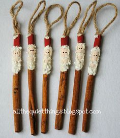 My daughter made me one of these Cinnamon Stick Ornaments when she was in elementary school.