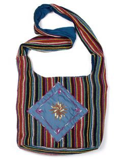 Striped Diamond Embroidery Bucket Bag. Beautiful handbag for the modern hippie. Perfect for festies and everyday. #wearbluesky #Boho #purses