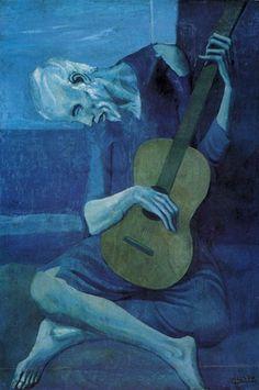 Pablo Picassos blue period - The Old Guitarist