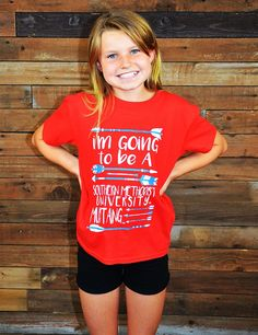 Let your kids show their Mustang spirit in this SMU t-shirt. Go Go Mustangs!