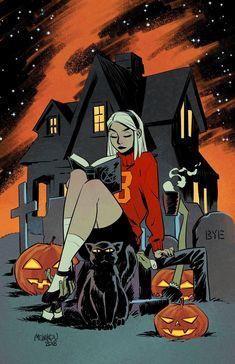 Sabrina at Halloween - Gleb Melnikov Witch Art, Sketches, Character Design, Illustration, Art, Halloween Wallpaper Backgrounds, Anime, Cartoon, Halloween Art
