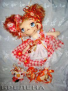 Кукла Апельсинка-домашняя феечка - рыжий,интерьерная кукла,текстильная кукла