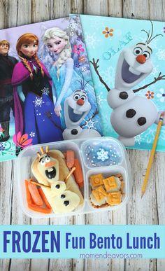 Disney FROZEN Fun Olaf Bento/School Lunch Idea! #FROZENFun #shop #BacktoSchool