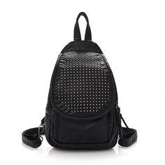 Women Vintage PU Leather Backpack Retro Shoulder Bag Vintage Satchel Bag