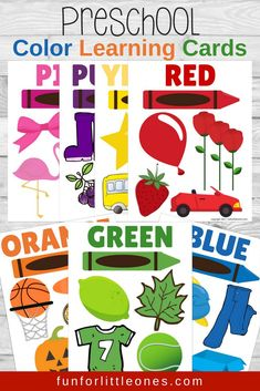 Preschool Color Learning Cards (Free Printable) Best Picture For Montessori Education For Your Taste You are looking for something, and it is going to tell you exactly what you are looking for, and yo Color Activities For Toddlers, Flashcards For Toddlers, Colors For Toddlers, Preschool Colors, Teaching Colors, Toddler Learning Activities, Free Preschool, Preschool Printables, Preschool Activities