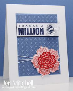 Thanks a Million by jenmitchell - Cards and Paper Crafts at Splitcoaststampers