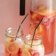 White Strawberry Lemon Sangria @keyingredient
