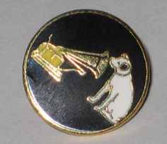 Victor  Victrola  Pin  with Nip  the dog. by vintagehouses on Etsy