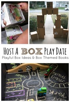 Cardboard Box Ideas for Hosting a Box Themed Playdate from the Educators' Spin On It