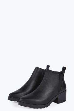 Cassie Pointed Cleated Elastic Insert Ankle Boot alternative image