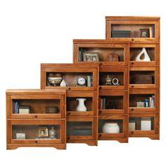 Eagle Furniture Oak (Brown) Ridge Customizable 32 in. Wide Lawyer Bookcase