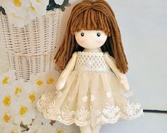 Rag doll, Textile doll, Decorative doll, Collectible dolls, Doll cotton,