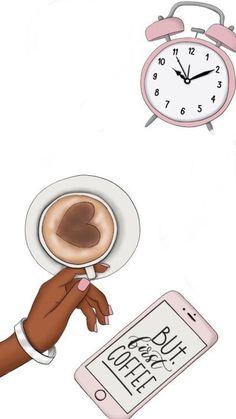 Black Girl Art, Black Women Art, Black Art, Art Girl, Morning Devotion, Girly Drawings, Art And Illustration, Coffee Illustration, I Love Coffee