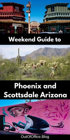 How to spend the perfect weekend in Phoenix and Scottsdale Arizona including the best things to see, do and eat. Click through for the perfect 4-day itinerary including Old Town Scottsdale, Desert Botanical Garden, Taliesin West, Cosanti, Phoenix Art Museum, Roosevelt Row, Hole in the Rock, Cave Creek, Goldfield Ghost Town, Salt River Wild Horses. Phoenix and Scottsdale have everything Arizona is famous for sunshine, warm weather, desert landscapes, and the Wild West. Canada Travel, Usa Travel, Travel Guides, Travel Tips, Roosevelt Row, Beautiful Places In Usa, Cave Creek, Southwest Usa, Phoenix Art