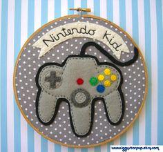 Nintendo 64 Embroidery Hoop by iggystarpup.deviantart.com on @deviantART