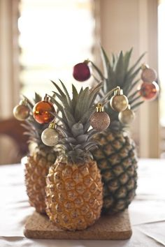 Pineapples are the new Christmas tree this year.