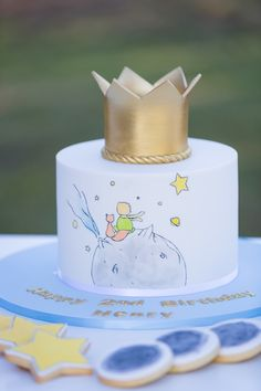 Baby Shower Cake Little Prince Cake from The Little Prince Birthday Party on Kara's Party Ideas Baby Cakes, Baby Shower Cakes, Prince Birthday Party, Baby Birthday, Birthday Parties, Birthday Cake, Birthday Ideas, Little Prince Party, The Little Prince