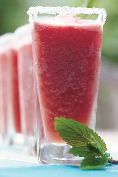 Use leftover watermelon to make this slushy summer drink. Garnish with fresh mint leaves.  Recipe: Watermelon-Mint Margaritas