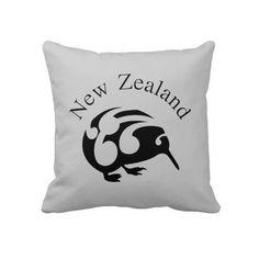 KIWI Aotearoa New Zealand birds pillow