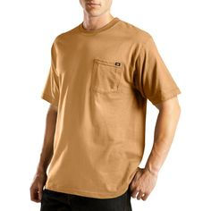 Dickies Men's Big & Tall Short Sleeve Performance Wicking Pocket T-Shirt- Brown Xxxl Tall
