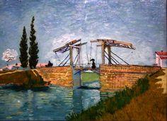 """KDS Photo, Cologne Wallraf - Richartz Museum, oil painting by Vincent Van Gogh, """"The railway bridge"""", 1888"""