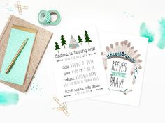 This birthday invitation is perfect for your brave little chief! Dimensions: 5x7 (4x6 by request) This listing is for 2 printable .jpg