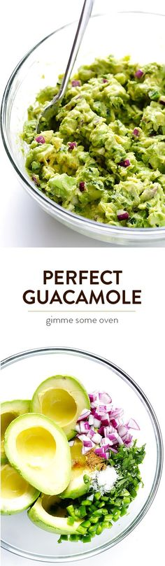 My all-time favorite recipe for delicious, quick, and easy guacamole.  Always a crowd favorite! | http://gimmesomeoven.com