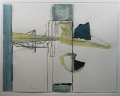Miguel Ybanez: Acryl en krijt op papier, Abstract I