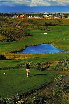 Lee Creek Vally Cardston Golf Course Home beautiful tee box.
