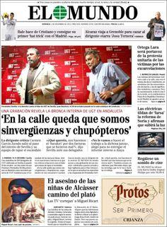 Los Titulares y Portadas de Noticias Destacadas Españolas del 1 de Diciembre de 2013 del Diario El Mundo ¿Que le pareció esta Portada de este Diario Español?