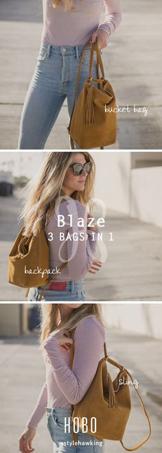 3 bags in 1 // the Blaze in suede hide