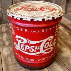 Vintage Pepsi Syrup Can