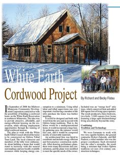 White Earth article Backhome Magazine copyrighted