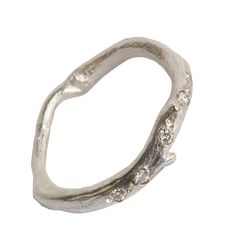 Silver And Diamond Root Strand Ring from notonthehighstreet.com