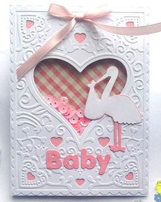 Cut and Emboss New Baby Card