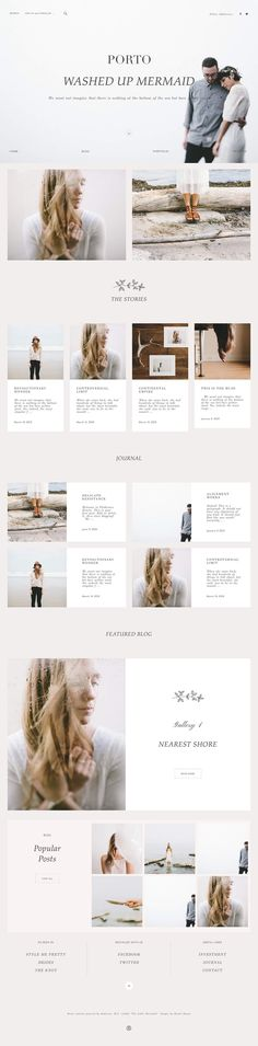 Website Design for Photographers, Porto, Flothemes, WordPress Photography Theme. Create a highly customizable Portfolio Blog for photographers and creatives. Build a longer homepage by adding blocks and showcasing your most recent & favorite photography.