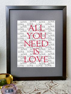All You Need is Love Printable - Valentine's Day Art?