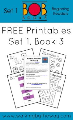 Free Printables for BOB Books Set 1, Book 3 from Walking by the Way