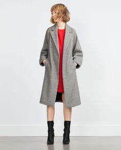 Image 1 de MANTEAU EN LAINE de Zara
