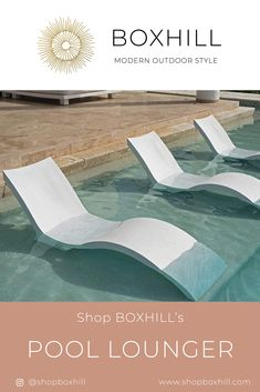 Recliners and Loungers for your swimming pool   Pool Ledge Lounger   Modern Outdoor Living   Pool Accessories   ShopBOXHILL Modern Outdoor Decor, Modern Outdoor Living, Outdoor Garden Decor, Outdoor Pool Furniture, Ledge Lounger, Living Pool, Pool Lounge Chairs, Modern Pools, Patio Accessories