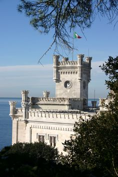 Miramare Castle Castle in Trieste, Italy, province of Trieste, Friuli-Venezia Giulia
