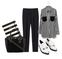 """""""Black & White"""" by and-thats-me ❤ liked on Polyvore featuring Rebecca Taylor and Kate Spade"""