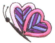 Pinnacle Embroidery Patterns Embroidery Design: Butterfly 1.61 inches H x 1.97 inches W