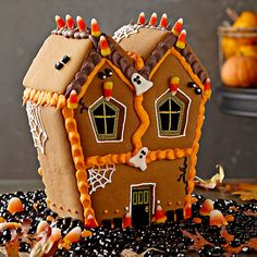 Halloween Ideas—Williams-Sonoma's Haunted Gingerbread House on http://www.cherylstyle.com