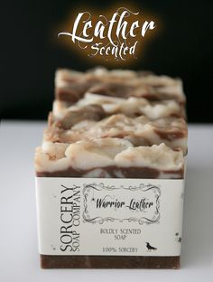 Warrior Leather Handmade Soap is now available! #leathersoap #handmadesoap…