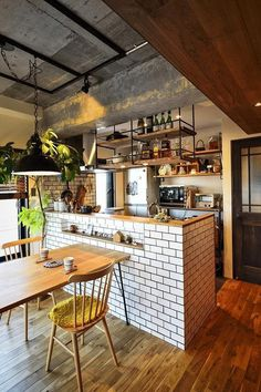 Kitchen design ideas for your next project. We have all the kitchen planning inspiration you need for the heart of your home, whatever your style and budget. Patio Interior, Restaurant Interior Design, Cafe Interior, Kitchen Interior, Interior Styling, Kitchen Gifts, Home Decor Kitchen, Diy Kitchen, Kitchen Furniture
