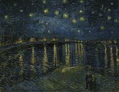 Vincent van Gogh, Starry Night over the Rhone,1888, oil on canvas, 72 x 92 cm (Musée d'Orsay)
