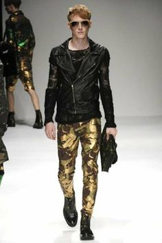Shimmery Camouflage Menswear - James Long Spring/Summer 2010.